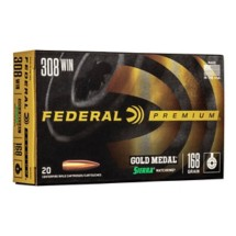 Federal Gold Medal 308 Win 168gr Matchking BTHP 20/bx