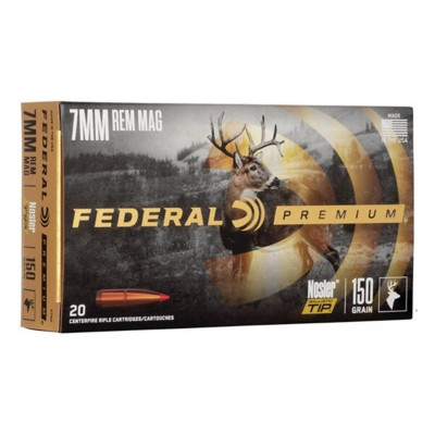 Federal Vital Shok 7mm Rem Mag 150gr Nosler Ball. Tip 20/bx