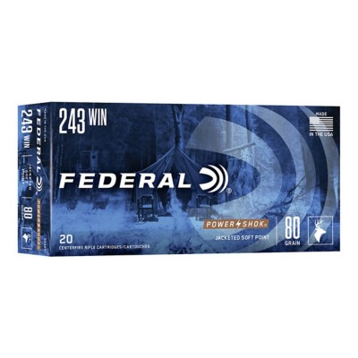 Federal Power Shok 243 Win 80gr SP 20/bx