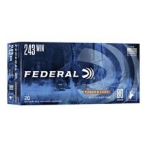 Federal Power Shok 243 Win 80gr SP 20/bx