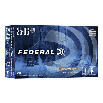Federal Power Shok 25-06 117gr SP 20/bx