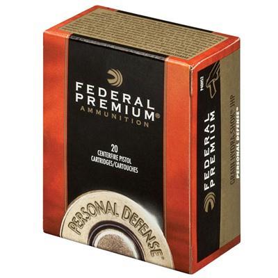 Federal Personal Defense 40 S&W 135gr Hydra Shok JHP 20/bx