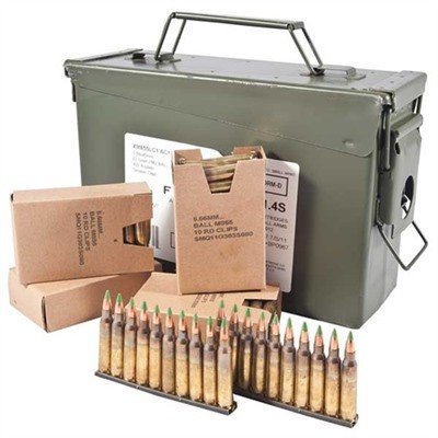 Federal Ammo 5.56 62 Gr FMJ 420rd Ammo Can/Stripper Clips' data-lgimg='{