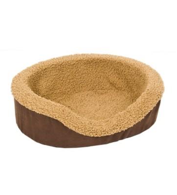 Aspen Pet Oval Foam Lounger Bed' data-lgimg='{