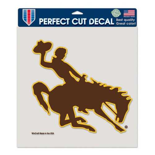 Wincraft Wyoming Cowboys 8X8 Perfect Cut Decal