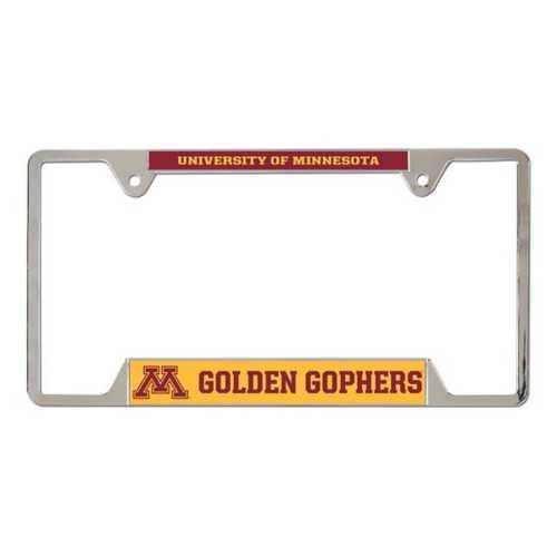 Wincraft Minnesota Golden Gophers Metal License Plate Frame