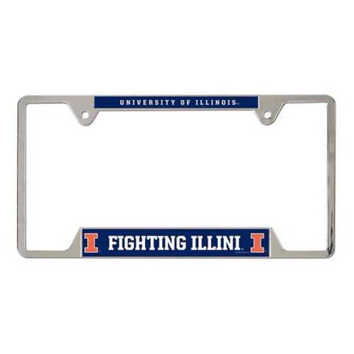 Wincraft Illinois Fighting Illini Metal License Plate Frame