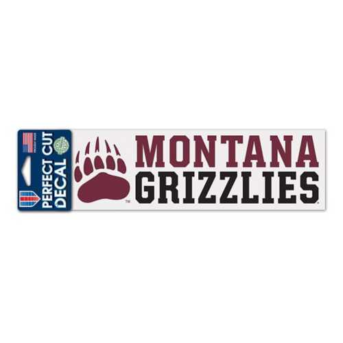Wincraft Montana Grizzlies 3X10 Perfect Cut Decal