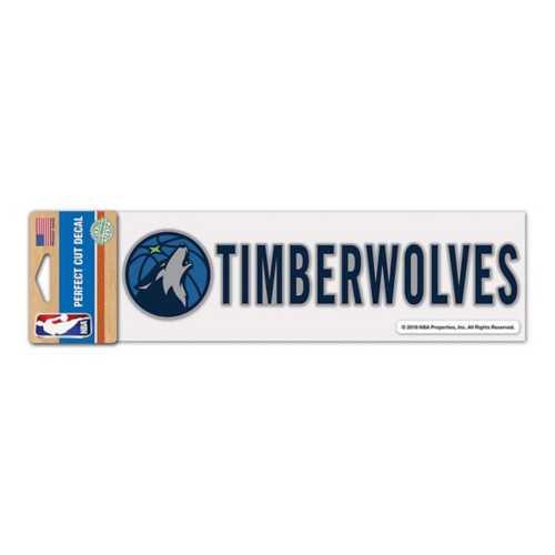 Wincraft Minnesota Timberwolves 3X10 Perfect Cut Decal
