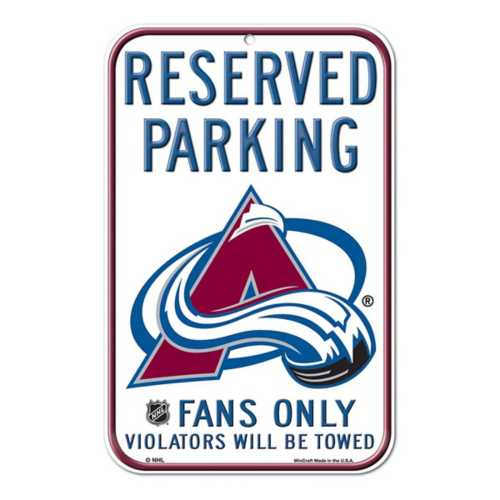 Wincraft Colorado Avalanche 11X17 Plastic Sign