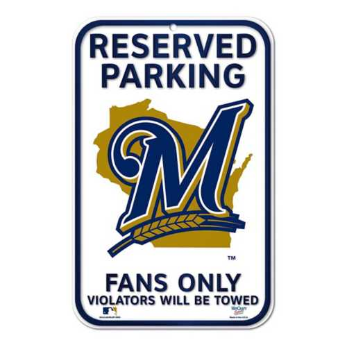 Wincraft Milwaukee Brewers 11X17 Plastic Sign