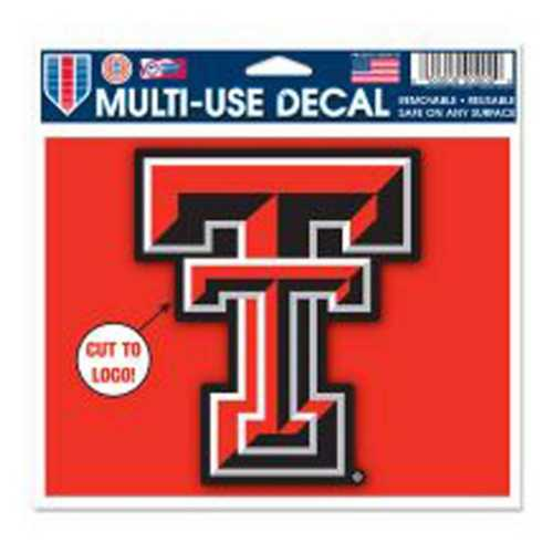 "Wincraft Texas Tech Red Raiders Multi Cut 5""x6"" Decal"