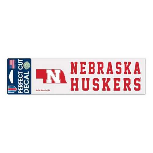 Wincraft Nebraska Cornhuskers 3X10 Perfect Cut Decal