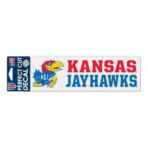 Wincraft Kansas Jayhawks 3X10 Perfect Cut Decal