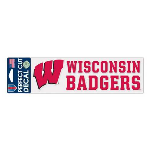 Wincraft Wisconsin Badgers 3X10 Perfect Cut Decal