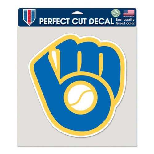 Wincraft Milwaukee Brewers 8X8 Perfect Cut Retro Decal