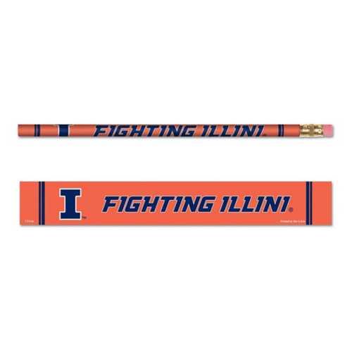 Wincraft Illinois Fighting Illini 6 Pack Pencils