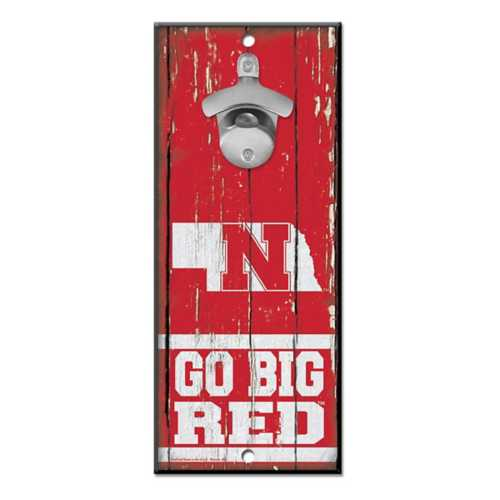 Wincraft Nebraska Cornhuskers Bottle Opener Sign