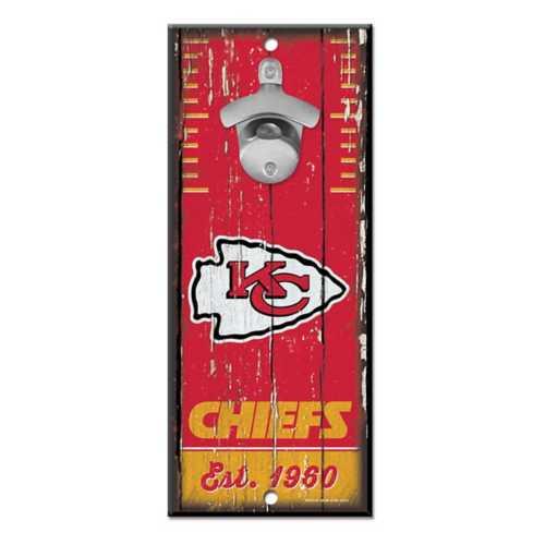 Wincraft Kansas City Chiefs Bottle Opener Sign