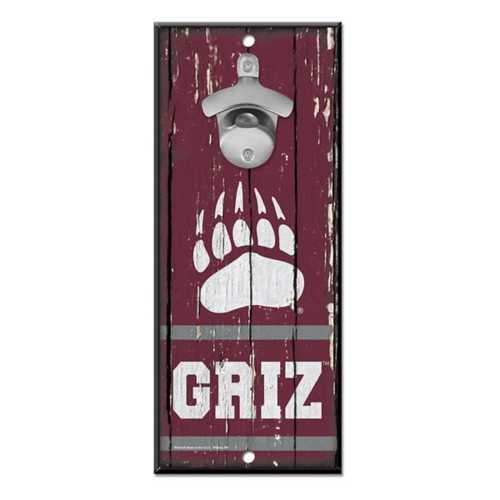 """Wincraft Montana Grizzlies 5""""x11"""" Bottle Opener Sign"""
