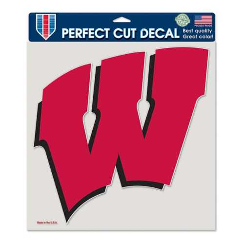 """Wincraft Wisconsin Badgers 8""""x8"""" Perfect Cut Decal"""