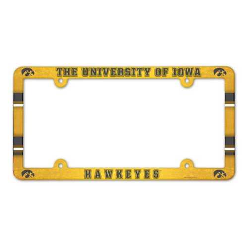 Wincraft Iowa Hawkeyes Plastic License Plate Frame