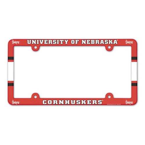 Wincraft Nebraska Cornhuskers Plastic License Plate Frame