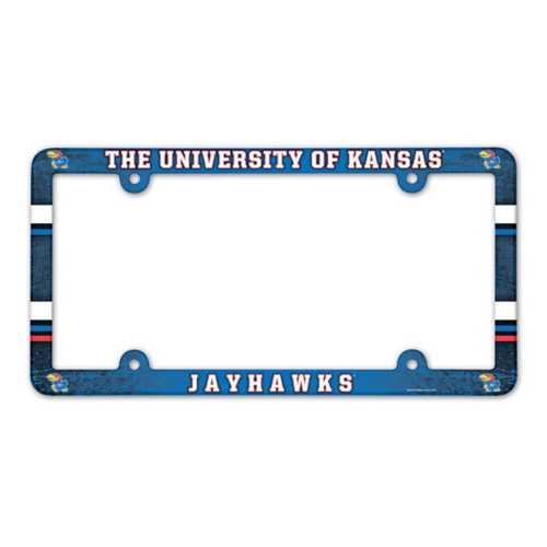 Wincraft Kansas Jayhawks Plastic License Plate Frame