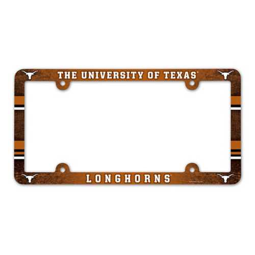 Wincraft Texas Longhorns Plastic License Plate Frame