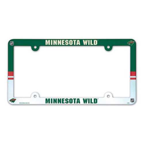 Wincraft Minnesota Wild Plastic License Plate Frame
