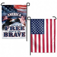 Wincraft Land of the Free Garden Flags 2 sided