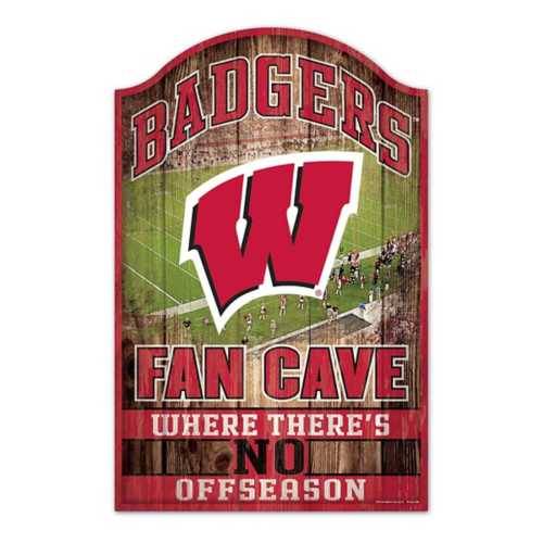 """Wincraft Wisconsin Badgers 11""""x17"""" Wood Sign"""
