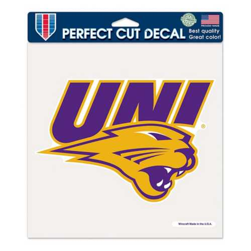"""Wincraft Northern Iowa Panthers 8""""x8"""" Perfect Cut Decal"""
