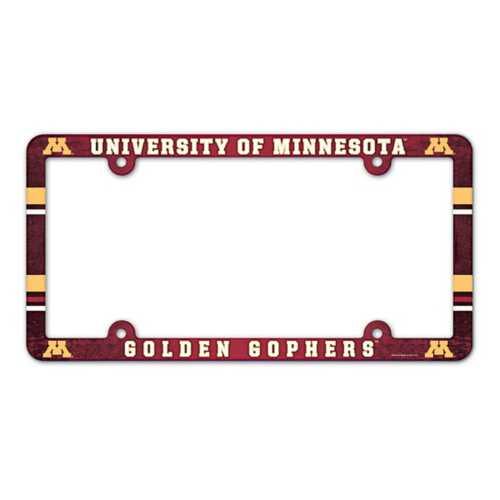 Wincraft Minnesota Golden Gophers Plastic License Plate Frame