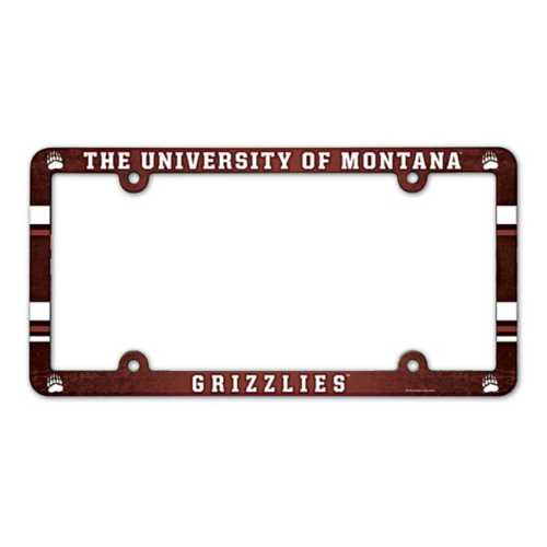 Wincraft Montana Grizzlies Plastic License Plate Frame