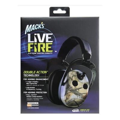 Mack's Live Fire Electronic Shooting Earmuffs