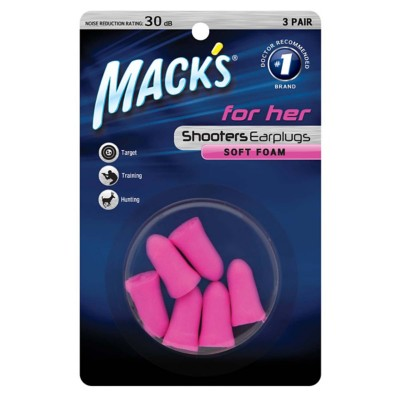 Mack's Shooters For Her Soft Foam Earplugs 3 Pair