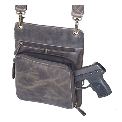 Gun Tote'N Mamas Buffalo Leather Cross Body Purse