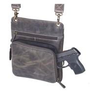Gun Tote'N Mamas Buffalo Leather Cross Body Purse
