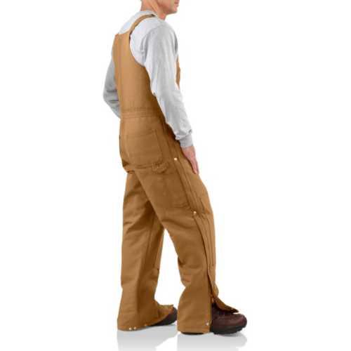 Men's Carhartt Duck Zip to Hip Bibs