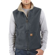 Men's Carhartt Sandstone Sherpa Lined Mock-Neck Vest