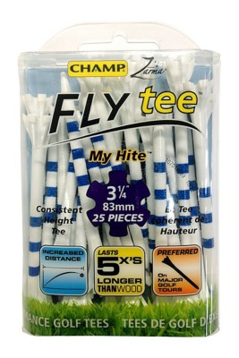 """Charter Products Champ Zarma 3 1/4"""" My Hite Fly Golf Tees - 25 Pack"""