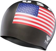 TYR USA Silicone Swim Cap
