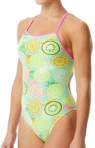 Women's The Finals Coolada Foil Flutterback One Piece Swimsuit