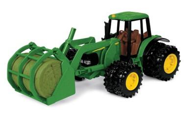 Ertl John Deere 7220 Tractor w/Bale Mover Toy