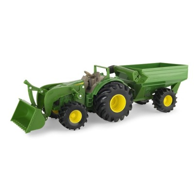 Ertl John Deere Monster Treads Tractor w/Wagon Toy' data-lgimg='{