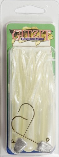 Gitzit Original Fat Gitizit Tube 4 Pack with 2 Hooks