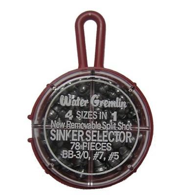 Water Gremlin Small Split Shot Sinker Selectors