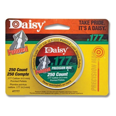 Daisy PrecisionMax 250 Count .177 Caliber Pointed Field Pellets' data-lgimg='{
