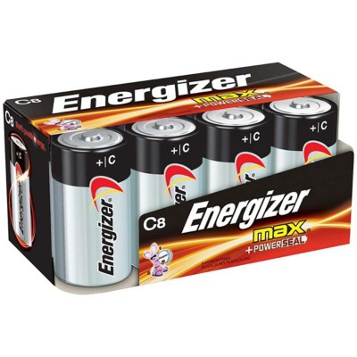 Energizer MAX Alkaline C Battery 8-Pack